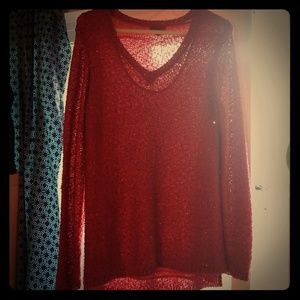 APT 9 XL red sparkle sweater.